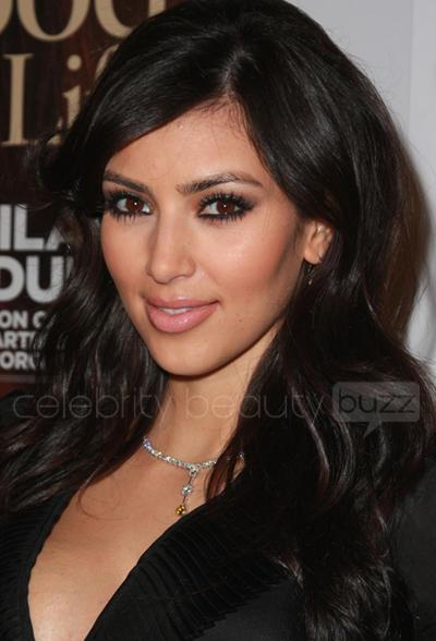 Kim Kardashian Beautiful Glazing Eyes Look