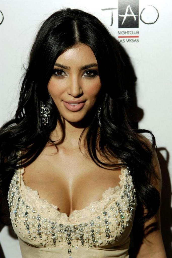 Kim Kardashian Open Boob Glamour Still