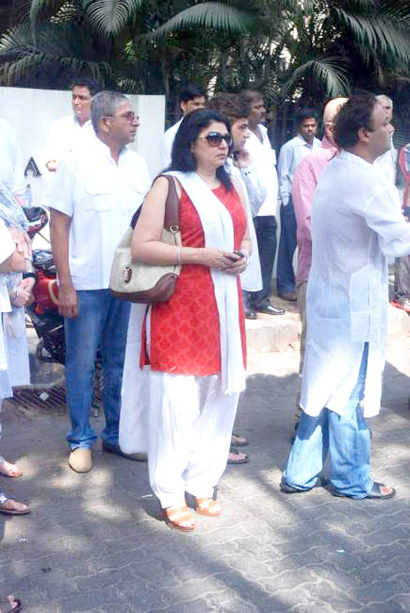 Kiran Juneja at Mona Kapoor's Funeral