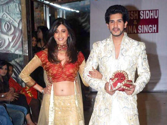 Kishwar Merchant with boyfriend Suyash Kumar at Saazish and Shaina debut bridal show