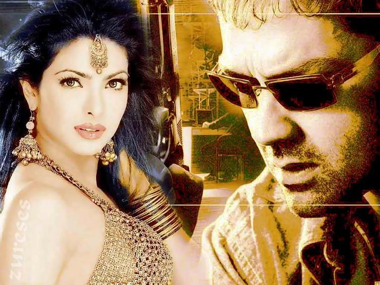 Kismat Wallpaper Priyanka Chopra and Bobby Deol Still
