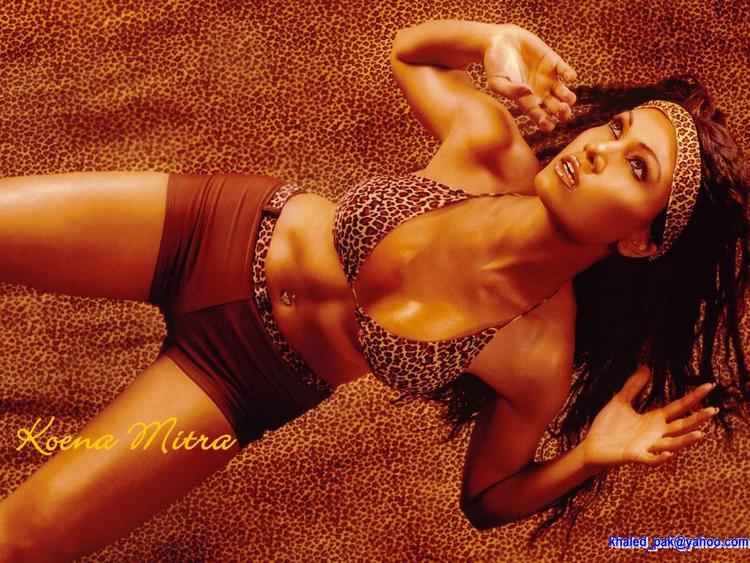 Koena Mitra Bikini Hot Glamour Wallpaper