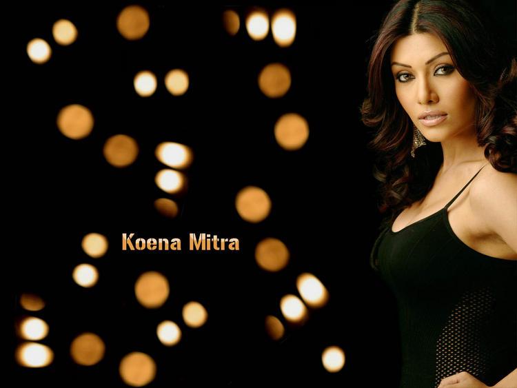 Koena Mitra Hair Style Romantic Face Wallpaper