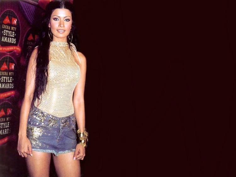 Koena Mitra Mini Dress Hot Wallpaper