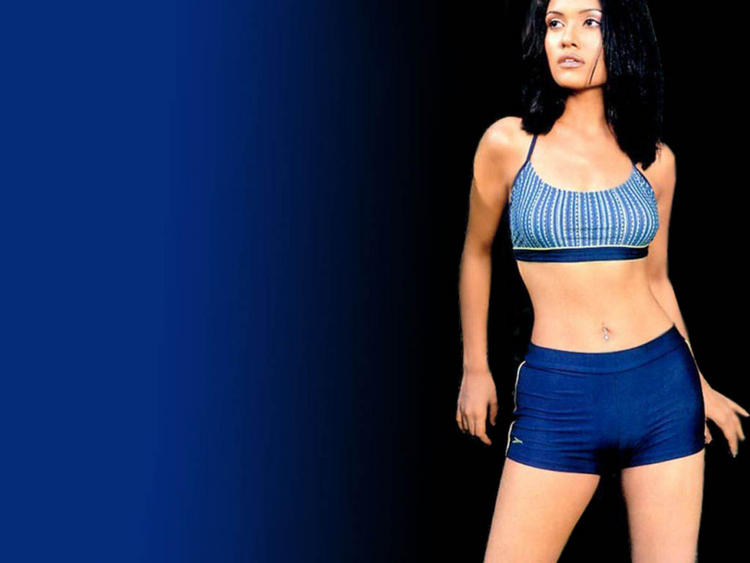 Koena Mitra Mini Dress Hot navel Show Wallpaper