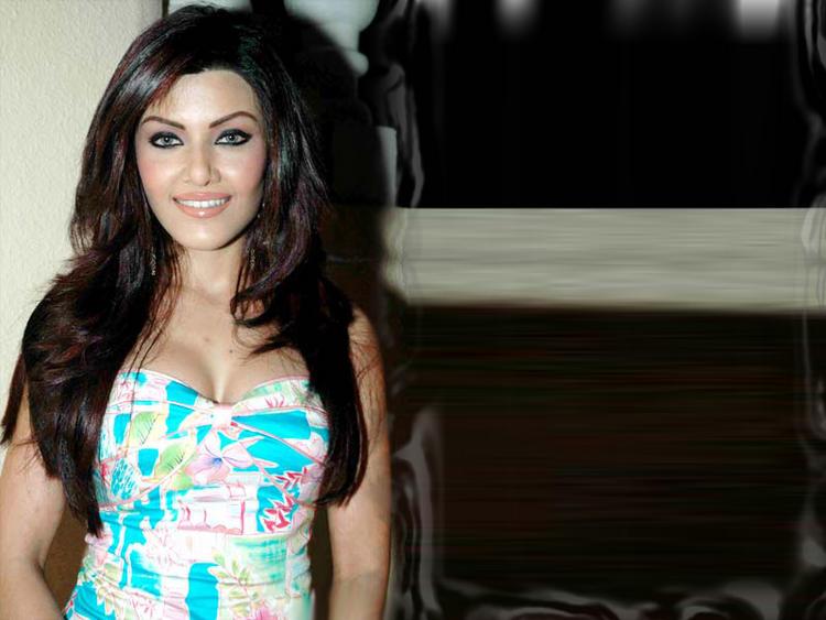 Koena Mitra Sweet Smile Gorgeous Face Look Wallpaper