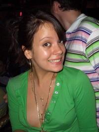 Lily Allen  Cute Face Still With Green Dress