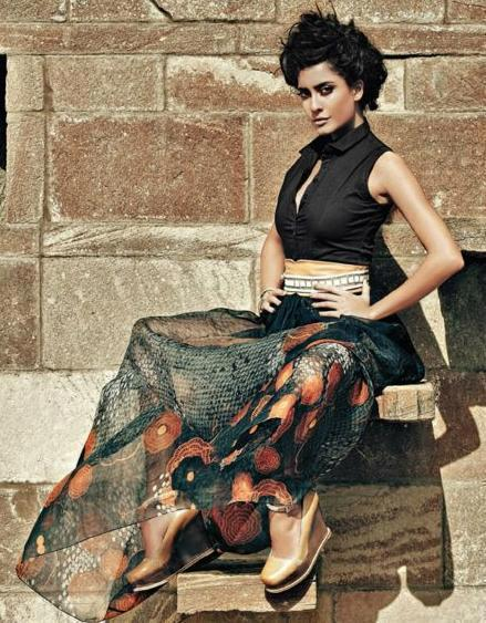Lisa Haydon Amazing Dress Pic For Elle India April 2012
