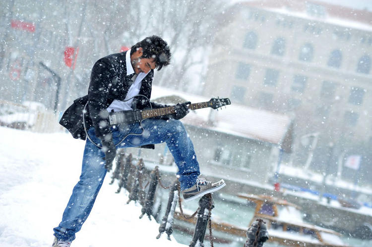 Lovely Movie Aadi guitar still