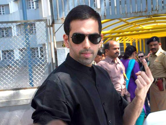 Luv Sinha cast his votes in Maharashtra civic polls Mumbai