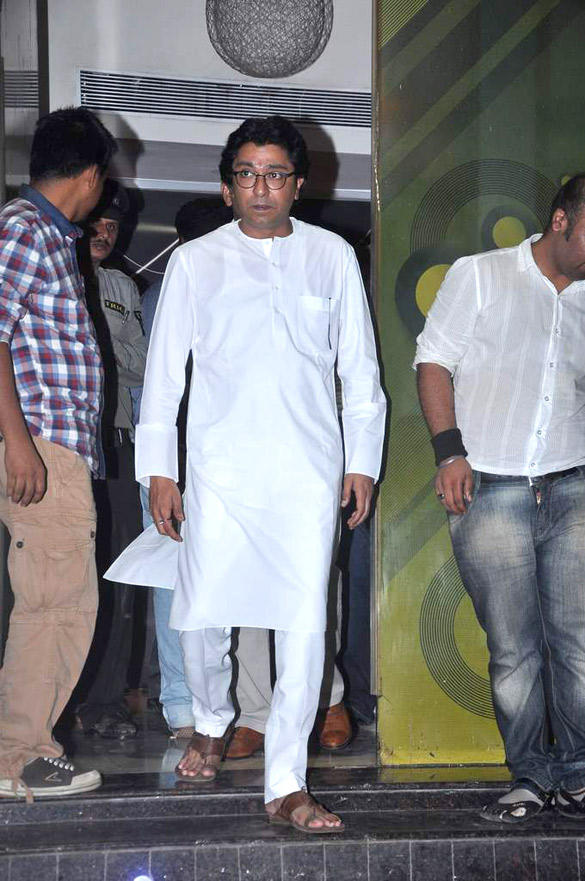 MNS Chief Raj Thackeray at Housefull 2 Screening