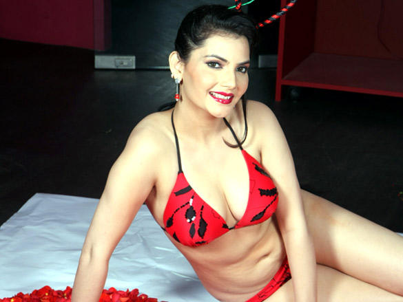 Madhavi Sharma hot bikini shoot for  Valentine
