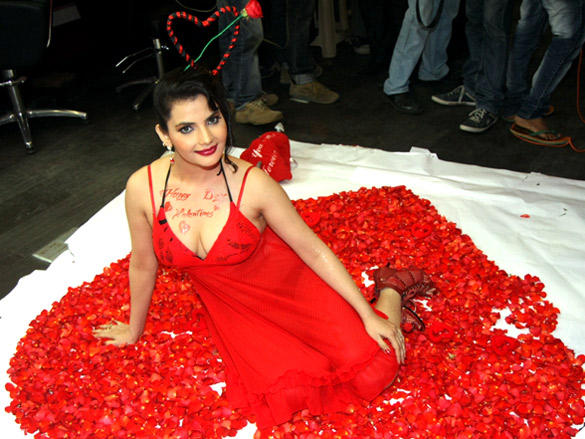 Madhavi Sharmas pre Valentine shoot at Shiva's Salon Academy