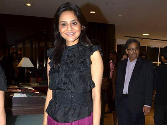Madhoo Shah at  at Raymonds' new store