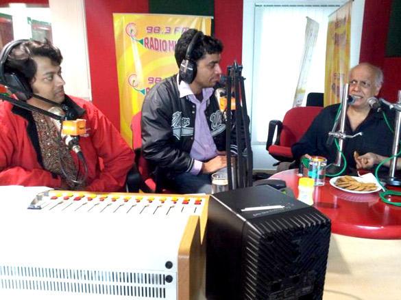 Mahesh Bhatt at 98.3 FM For Promote His Film Blood Money
