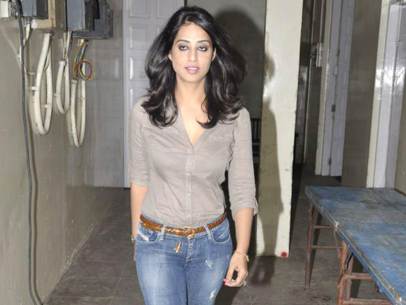 Mahie Gill with tight jeans