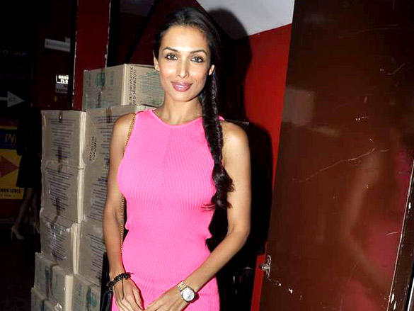 Malaika Arora Khan Glamour Still at Agent Vinod Screening at PVR