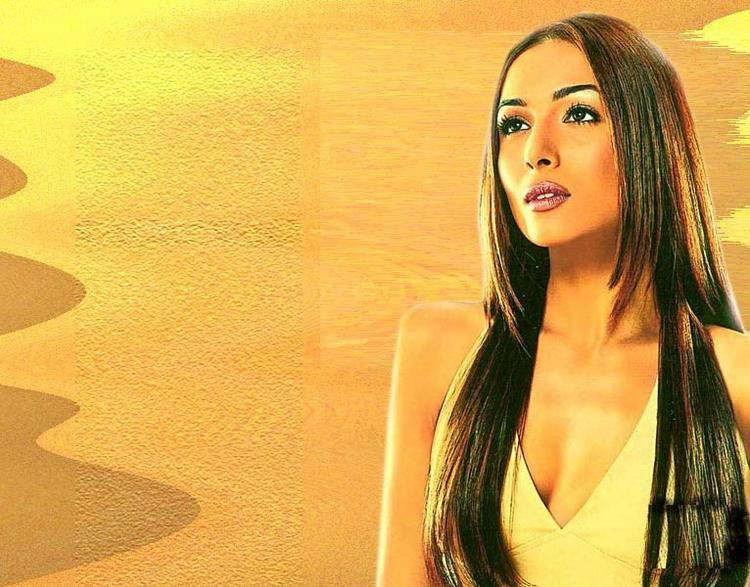 Malaika Arora Khan Long Hair Hot Face Wallpaper