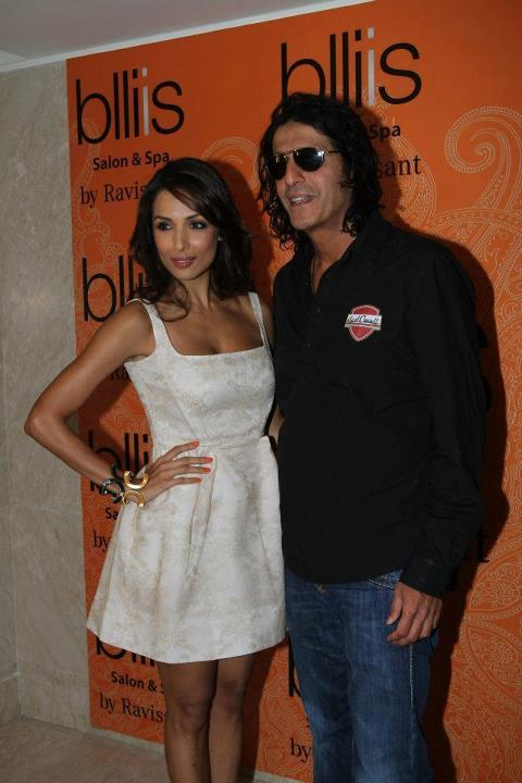 Malaika Arora with Chunkey Pandey at the Launch of Blliis By Ravissant
