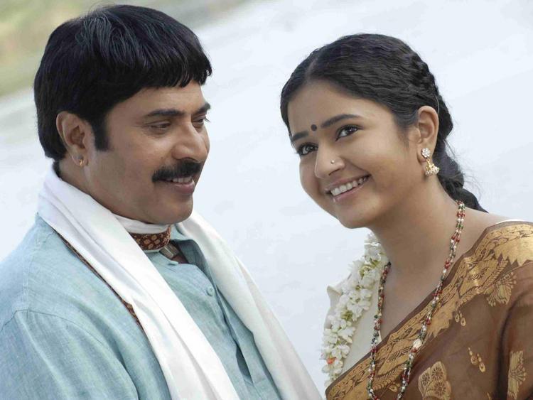 Mammootty,Poonam Bajwa Romance Still In Shikari Movie