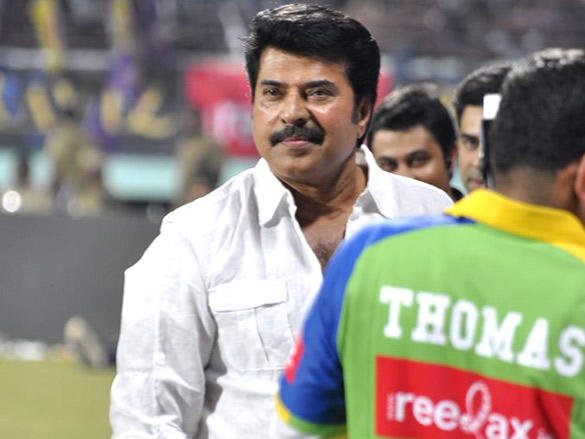 Mammootty at Mumbai Heroes CCl 2 match