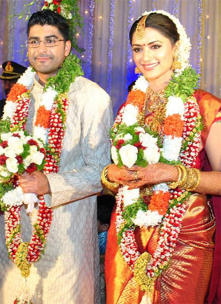 Mamta Mohandas with Husband