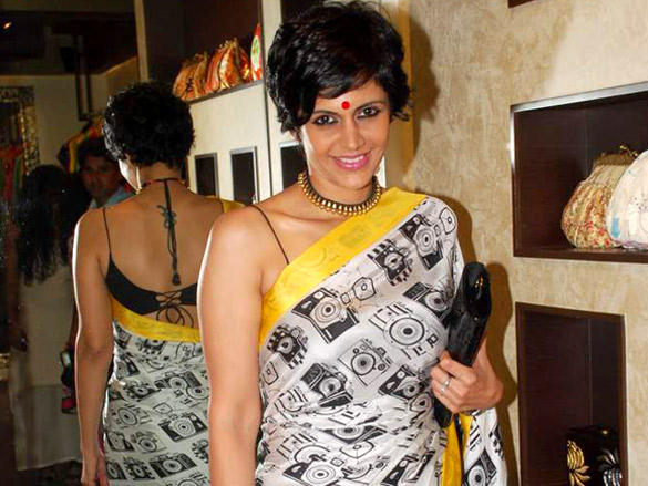 Mandira Bedi Back Bare Blouse Still at Atosa