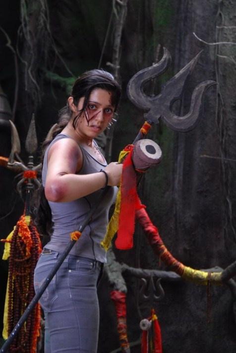 Mangala Movie Charmi Angry Still