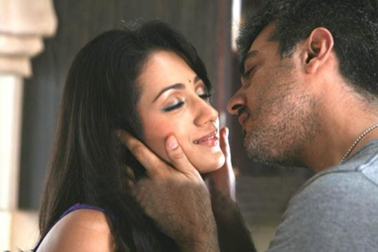 Mankatha Film Stils Ajith Kiss Trisha