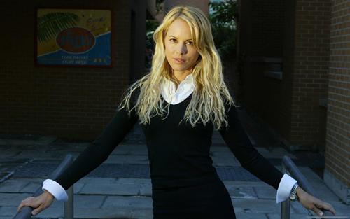 Maria Bello Black Color Dress Still