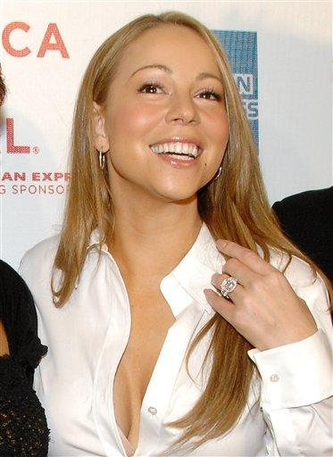 Mariah Carey Sexy Cleavages Smile Face Still