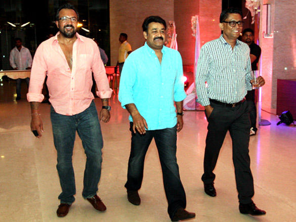Mohanlal at Cricket League  party in Vizag