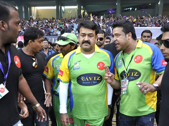 Mohanlal at Mumbai Heroes CCl 2 match