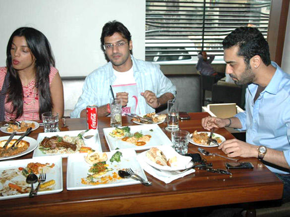 Mugdha Godse,Aditya Datt at  Opa Restaurant