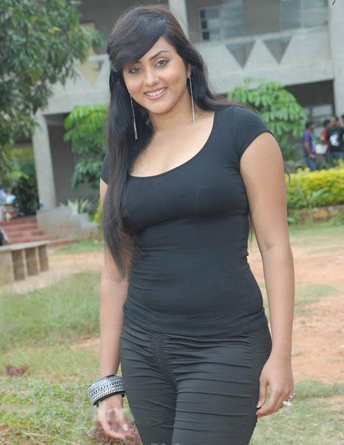 Namitha in Black Dress Sexy Still