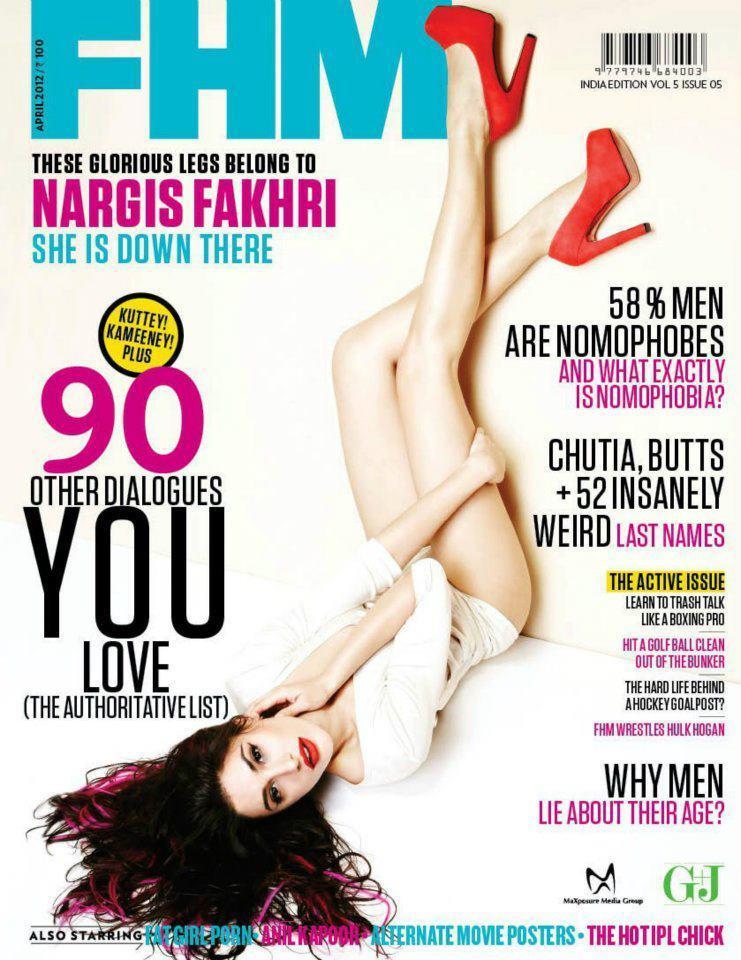 Nargis Fakhri Fhm Hot Scans April 2012