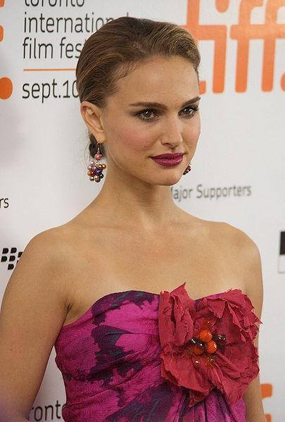 Natalie Portman Sleeveless Dress Beauty Still at TIFF