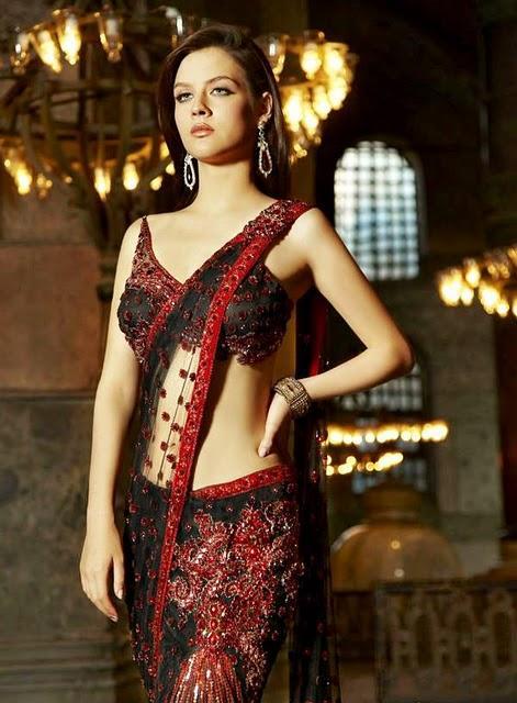 Neha Dalvi Net Saree Beauty Still