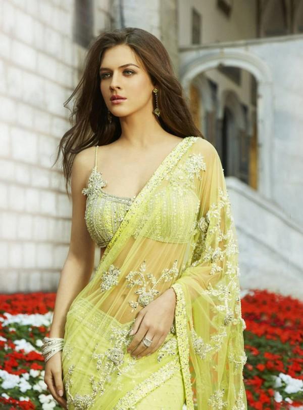 Neha Dalvi Transparent Saree Sizzling Pic