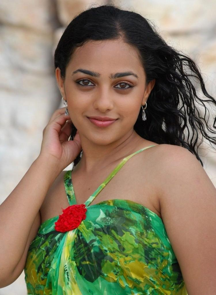 Nithya Menon Sleeveless Dress Photo