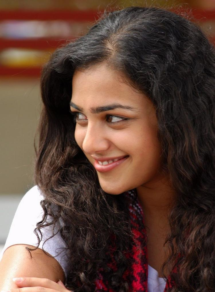 Nithya Menon Stunning Sweet Face Look