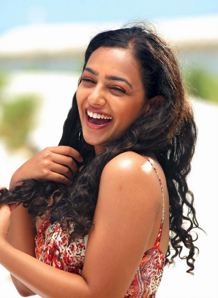 Nithya Menon With Open Smile Pic
