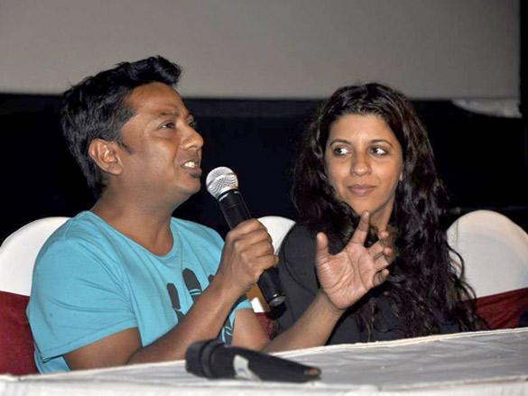Onir,Zoya Akhtar at a special screening of The Artist