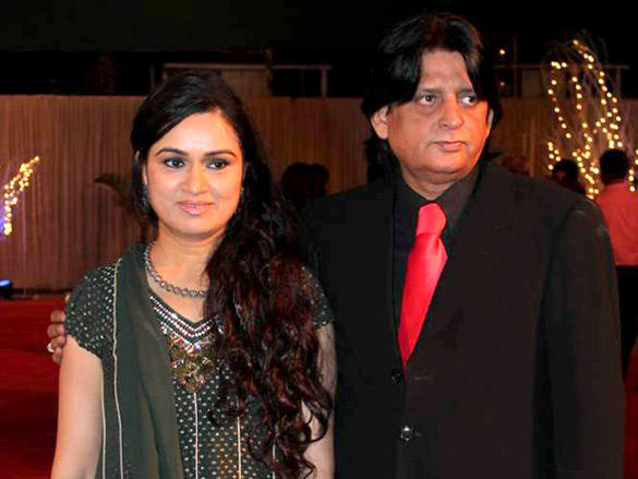 Padmini Kolhapuri and Turu at at Vikas Kalantri's wedding reception