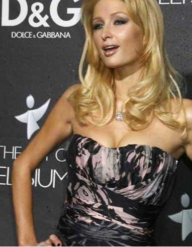 Paris Hilton Sleeveless Dress Hot Still