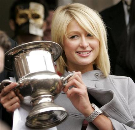 Paris Hilton Sweet Still With Trophy