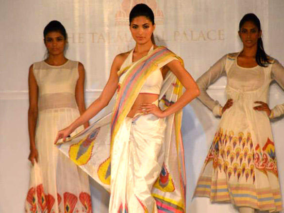 Parvathy Omanakuttan walks the ramp for Rahul Mishra's show