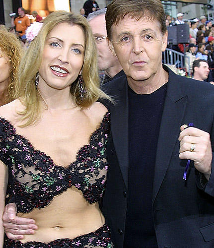 Paul Mccartney and Heather Mills Hot Dress Public Photo