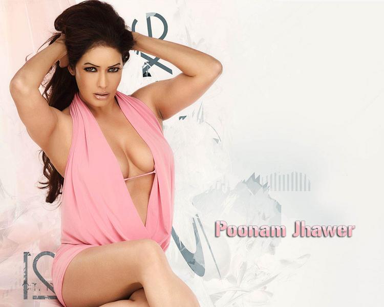 Poonam Jhawar Sexy Pink Dress Breasts Show Wallapper