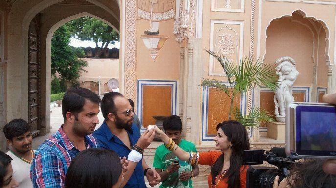 Prachi Desai,Rohit Shetty On The Sets of Bol Bachchan